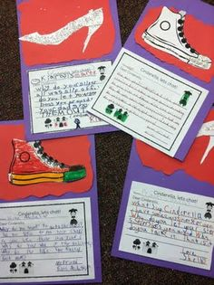 Cinderella's shoe... something along the lines of a character's shoe and how it tells about the character. Traditional Literature, Traditional Tales, Fairy Tale Activities, Class Activities, Fractured Fairy Tales, Fairy Tales Unit, Fairy Tale Theme, 2nd Grade Writing, Tall Tales