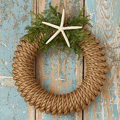 Rope Wreath with Greens