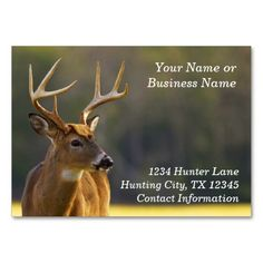 149 best hunter business cards images on pinterest business cards hunting hunter wildlife whitetail buck animal business card colourmoves