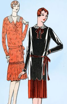 1920s VTG Ladies Home Journal Sewing Pattern 5992 FF Misses Flapper Dress Sz 36B #LadiesHomeJournal #FlapperFrock