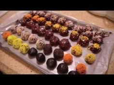 Easy chocolate coated cream cheese and Oreo truffles (for a different look, try white chocolate instead of milk chocolate and you can also coat the outsides of the truffles with coca powder, coconut, clear sugar crystals, etc.)