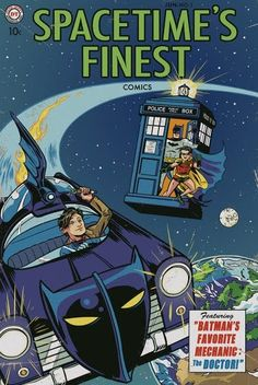 Cool crossover... Dr Who and Batman