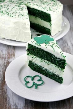 Shamrock cake. Let's make this right now!