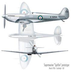 "6th March 1936 ""Spitfire"" Prototype K 5054"
