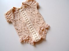 NEW-Newborn Photography Prop-Newborn Champagne Lace Short by zoik