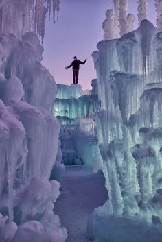 Ice Castle in Silverthorne, Colorado.