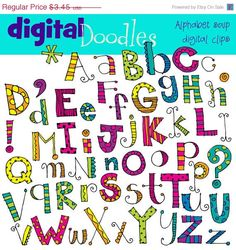 Way cute alphabets, fonts, clip art ...