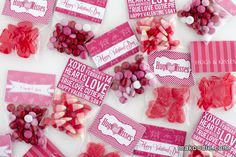 DIY Valentine's Day Treat Bag Toppers - Makoodle