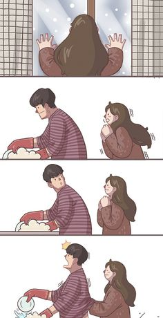 relationship illustration Couple Comics That Are Too Relatable If You Have A Clingy And Cute Girlfriend Love Cartoon Couple, Cute Couple Comics, Couples Comics, Cute Couple Art, Funny Couples, Cute Couples Goals, Cute Anime Couples, Couple Goals, Anime Couples Cuddling