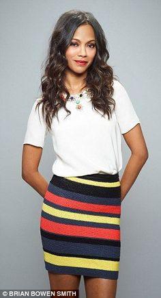 ...and on Zoe Saldana! Looks better on her :)