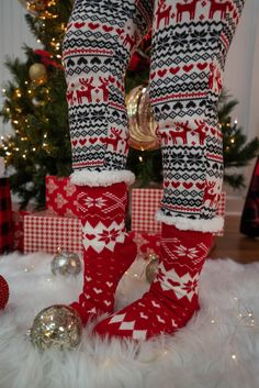 Sherpa Socks From 3 Sisters Cute Dresses For Juniors, Junior Dresses, Holiday Pajamas, Online Clothing Boutiques, Boutique Clothing, Latest Fashion Trends, Christmas Stockings, Sisters, Socks