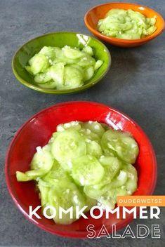Ouderwetse komkommersalade uit de jaren '70