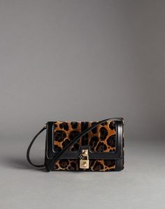 NAPPA LEATHER AND VELVET LEOPARD PRINT DOLCE BAG - Medium fabric bags - Dolce&Gabbana - Winter 2015
