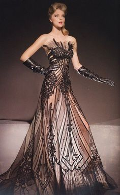 Edwardian inspired I do believe...anybody know who the designer is?