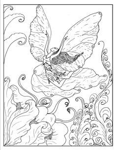 S.Mac's Exuberant Fairy Coloring Page