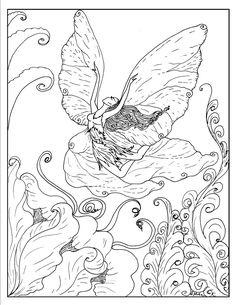 S.Mac's Exuberant Fairy Coloring Page
