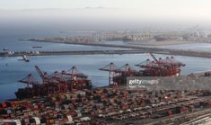 News Photo : Shipping containers sit at the Port of Long. Shipping Containers, Macau, Long Beach, British, California, News, Board, Image, Planks