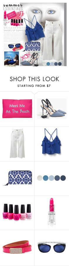 """Untitled #995"" by talatay ❤ liked on Polyvore featuring T-shirt & Jeans, J.Crew, Veronica Beard, MANGO, Vera Bradley, NYX, GALA, Topshop, OPI and Rodin"