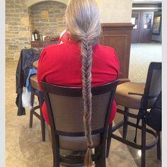 My mom's friend has really long hair! Long Silver Hair, Long White Hair, Grey Hair, Grow Long Hair, Long Hair Cuts, Long Hair Styles, Really Long Hair, Super Long Hair, Grey Stuff