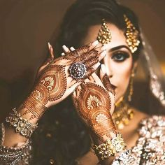 Go ahead and flaunt those beautiful designs...after all every detail matters when you are the bride! #indianbride #indianwear…