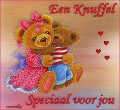 Een knuffel, speciaal voor jou Love Kiss, Smiley, Hugs, Special Day, Teddy Bear, History, Happy, Animals, Night