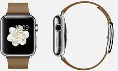 #Apple #Watch  38mm Case 316L Stainless Steel,  Sapphire Crystal Display, Ceramic Back,  Modern Buckle Brown Leather, Stainless Steel Buckle
