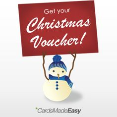 Spend over £50 with CardsMadeEasy and get a £5 voucher for your Christmas Cards order!  Spend over £100 with CardsMadeEasy and get a £10 voucher for your Christmas Cards order!  Spend over £200 with CardsMadeEasy and get a £20 voucher for your Christmas Cards order!  www.cardsmadeeasy.com