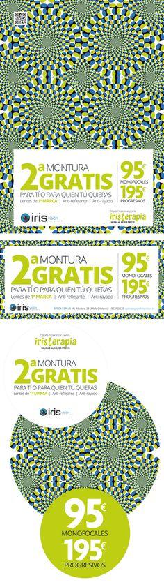 Os presentamos la nueva campaña publicitaria para las Ópticas Iris Visión. ¿Qué os parece el efecto óptico?  Más información: http://www.g2disseny.com/campana-publicidad-promocion-gafas-para-iris-vision/  Designed by @g2disseny #design #graphicdesign #marketing #advertising #advertisement #logo #instadesign #typography #webdesign #Corporateimage  #signage