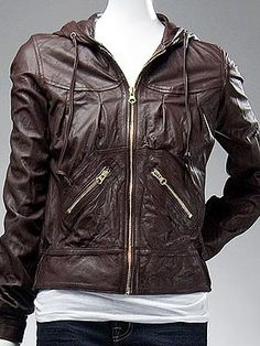 Mike and Chris Leather Hoodie Jacket