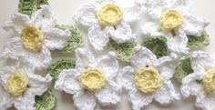 Free Easy Crochet Daffodil pattern