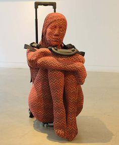 Nausheen Saeed, Pakistani Contemporary Art, Females as baggage or luggage, sculpture, Transitory, Scope 2013
