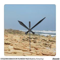 COQUINA BEACH IN FLORIDA Wall Clock