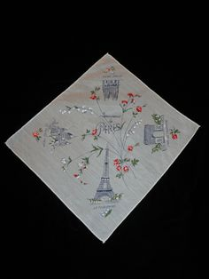 vintage travel hankerchief