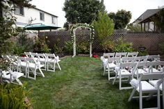 1960s Backyard Wedding | Backyard, Wedding and Ceremony seating