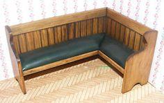 1 12 Scale Left Angled Green Leather Settle Dolls House Miniature Pub SRS | eBay