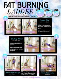 Fat Burning Ladder – Great Thigh Toner and Cardio Routine!