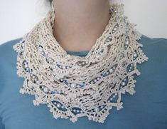 Beaded lace scarf.... Free pattern!