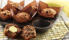 Banan lentil muffins