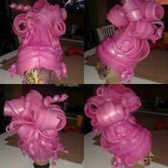 Pink PE foam wig