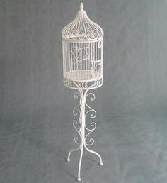 decorative bird cages on stands for weddings | stand bird cage French props bird cage decoration pigeon cage bird ...