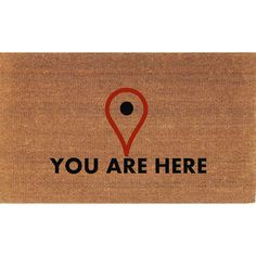 You Are Here Map Locator Icon Funny Door Mat Coir Doormat Rug 2 X 2 11