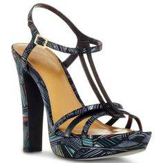 Duro Olowu for jcp Abstract Leaf-Print T-Strap Platform Sandals