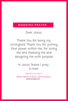 Prayer --> Read today's daily devotional at GodlywoodGirl.com by clicking through.