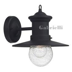 Outdoor Wall Lantern Black