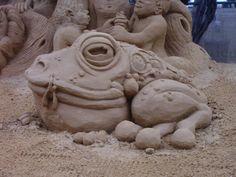 Frog Sand Sculpture