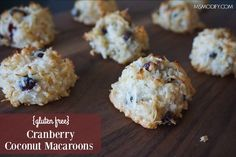 These coconut macaroons, flavored with cranberries and orange zest are sure to be a big hit this holiday season!