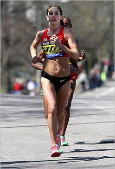 Kara Goucher looking badass on Heartbreak Hill. I need to start channeling this power on hills as I prepare for Flying Pig!