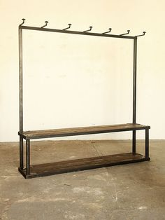 strawser and smith coat rack bench... LOVE this!!!