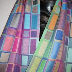 Handwoven Double Weave Silk Scarf