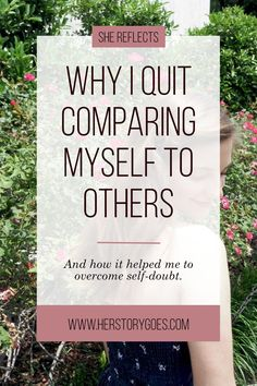 Picture of (Im)Perfection: Why I Quit Comparing Myself to Others — Her Story Goes. // If you don't think you have what it takes to be a {fill in the blank}, think again. You are good enough, but you just have to believe it. Click to read my story about how I overcame my self-doubt as a blogger.